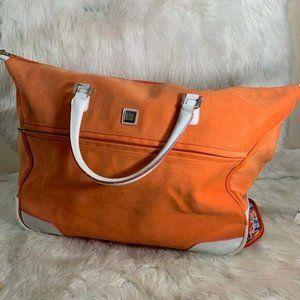 Diane Von Furstenburg Large Rolling Luggage Orange